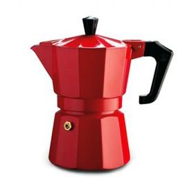 Pezzetti Italexpress  Μόκα  Καφετιέρα Εσπρέσο Κόκκινη 3 Φλιτζάνια