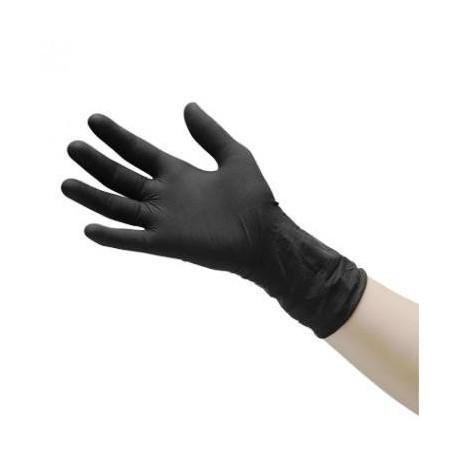 Gloves Disposable Latex Black Medium 100pcs