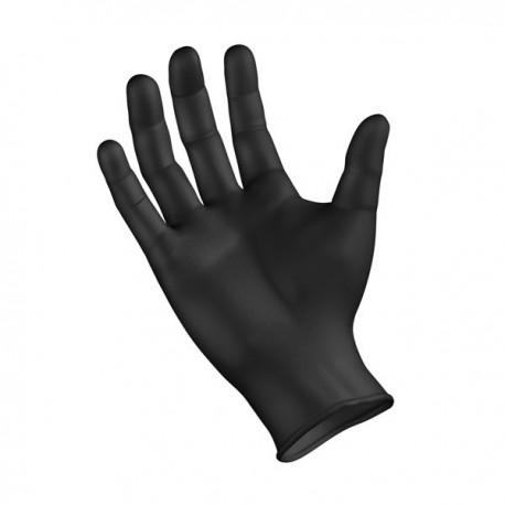 Γάντια Μιας Χρήσης Νιτριλίου Large Extra Αντοχής Μαύρο 100τεμ