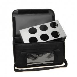Ισοθερμική Τσάντα Delivery Καφέ 6 Θέσεων Μαύρη