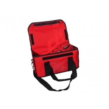 Ισοθερμική Τσάντα Delivery Καφέ 6 Θέσεων Κόκκινη