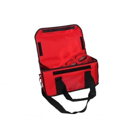 Ισοθερμική Τσάντα Delivery Καφέ 8 Θέσεων Κόκκινη