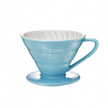 Tiamo Ceramic Dripper V02 Light Blue