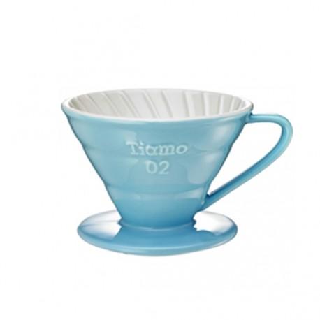 Tiamo Κεραμικό Dripper V02 Γαλάζιο