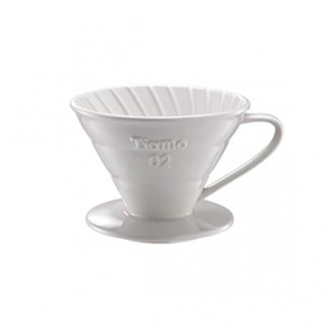 Tiamo Ceramic Dripper V02 White