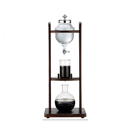 Tiamo Wooden Cold Water Coffee Dripper 10 Cups Tall