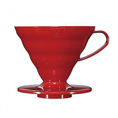 Hario Coffee Dripper V60 02 Red Plastic