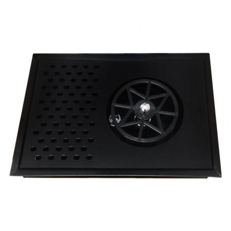 The Rinser - Pitcher Rinser With Drainer 30x20 Black Mat