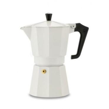 Pezzetti Italexpress Μόκα Καφετιέρα  Εσπρέσο Άσπρη 6 Φλιτζάνια