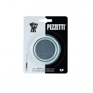 Pezzetti Steelexpress Μόκα Εσπρέσο Ανταλλακτικές Φλάντζες και Φίλτρο -4 Φλιτζάνια