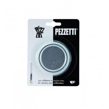 Pezzetti Steelexpress Moka Rubber Seal Gaskets and Filter - 2 Cup