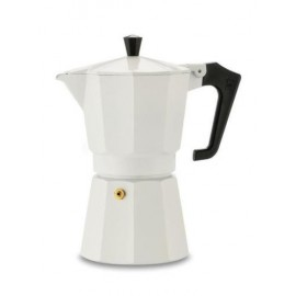 Pezzetti Italexpress Μόκα  Καφετιέρα Εσπρέσο Άσπρη 3 Φλιτζάνια