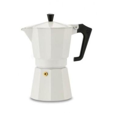 Pezzetti Italexpress Μόκα Καφετιέρα  Εσπρέσο Άσπρη 1 Φλιτζάνια