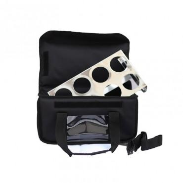 Ισοθερμική Τσάντα Delivery Καφέ 8 Θέσεων Μαύρη
