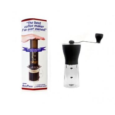 Aerobie Aeropress Coffee Maker + Hario Mini