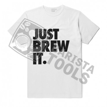 Barista T-Shirt - Just Brew It White